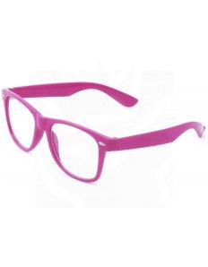 Brýle Wayfarer – tmavě růžové obroučky
