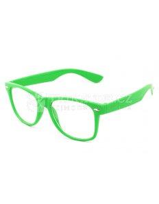 Brýle Wayfarer – zelené obroučky