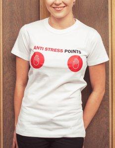 Dámské tričko s potiskem – Antistress points