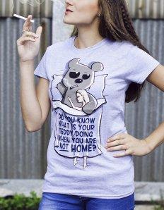Dámské tričko s potiskem – Bad Teddy