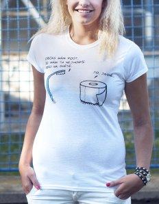 Dámské tričko s potiskem – Bad work