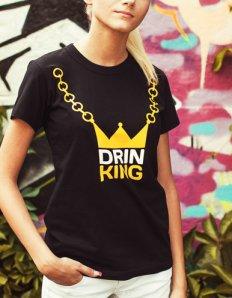 Dámské tričko s potiskem – Drink King