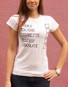 Dámské tričko s potiskem – Drugs I like + Fixa