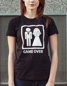 Dámské tričko s potiskem – Game over