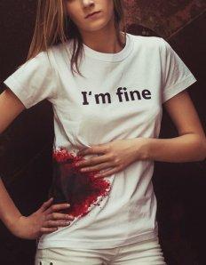 Dámské tričko s potiskem – I'm fine