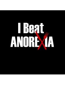 Dámské tričko s potiskem – I beat anorexia