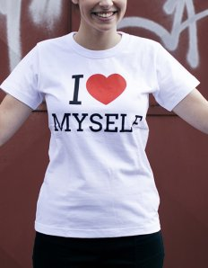Dámské tričko s potiskem – I love myself