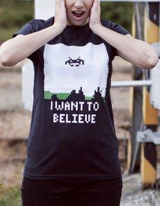 Dámské tričko s potiskem – I want believe