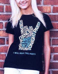 Dámské tričko s potiskem – I will rock this party