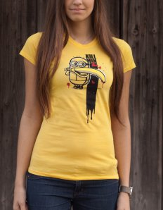 Dámské tričko s potiskem – Kill Min