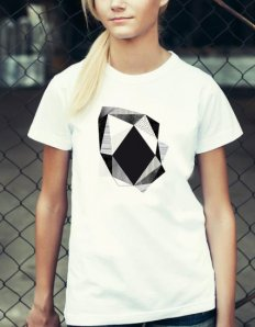 Dámské tričko se zvířecím potiskem (the mountain) Stone