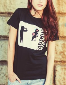 Dámské tričko s potiskem – Suicide watch