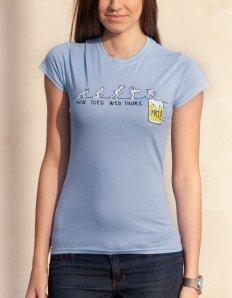 Dámské tričko s potiskem – Thanks God It's Friday