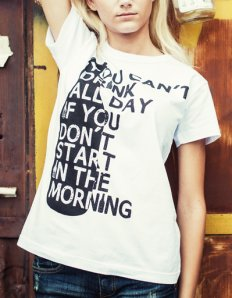 Dámské tričko s potiskem – You can't drink all day