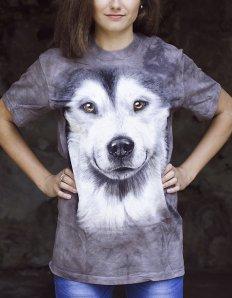 Dámské tričko se zvířecím potiskem (the mountain) Alaskan Malamute