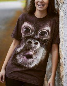 Dámské tričko se zvířecím potiskem (the mountain) Baby Orangutan