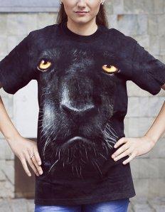 Dámské tričko se zvířecím potiskem (the mountain) Black panther