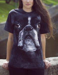 Dámské tričko se zvířecím potiskem (the mountain) Boston Terrier