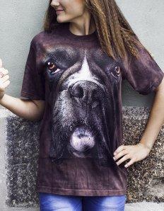 Dámské tričko se zvířecím potiskem (the mountain) Boxer
