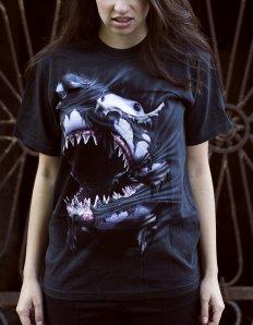 Dámské tričko se zvířecím potiskem (the mountain) Breakthrough Shark