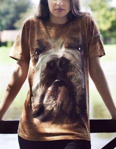 Dámské tričko se zvířecím potiskem (the mountain) Bulldog face
