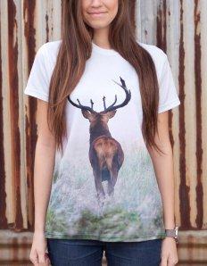 Dámské tričko se zvířecím potiskem (the mountain) Deer