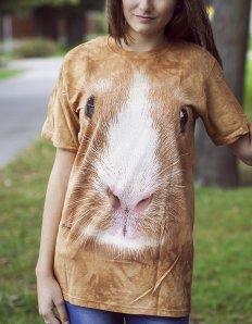 Dámské tričko se zvířecím potiskem (the mountain) Guinea pig