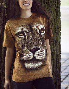 Dámské tričko se zvířecím potiskem (the mountain) Lion warrior