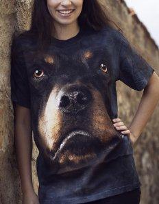 Dámské tričko se zvířecím potiskem (the mountain) Rottweiler