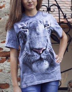 Dámské tričko se zvířecím potiskem (the mountain) White tiger