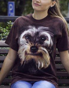 Dámské tričko se zvířecím potiskem (the mountain) Yorkshire Terrier