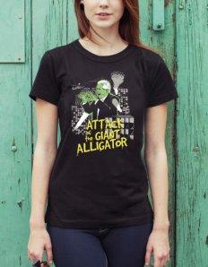 Dámské tričko s potiskem – Alligator
