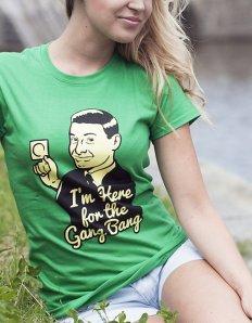 Dámské tričko s potiskem – Gangbang