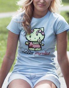 Dámské tričko s potiskem – Hello Zombie