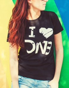 Dámské tričko s potiskem – I love DNB  824e31302a
