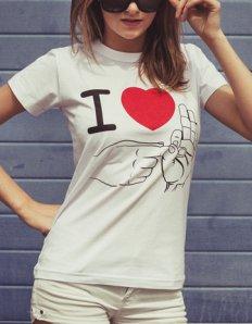 Dámské tričko s potiskem – I love it