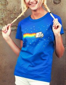 Dámské tričko s potiskem – Nyan cat