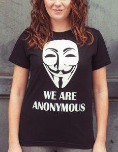 Dámské tričko s potiskem – We are anonymous