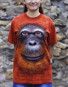 Dámské tričko se zvířecím potiskem (the mountain) Adult Orangutan
