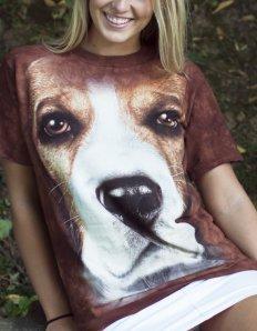 Dámské tričko se zvířecím potiskem (the mountain) Beagle