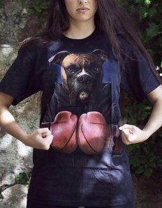 Dámské tričko se zvířecím potiskem (the mountain) Boxer Rocky