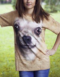 Dámské tričko se zvířecím potiskem (the mountain) Chihuahua