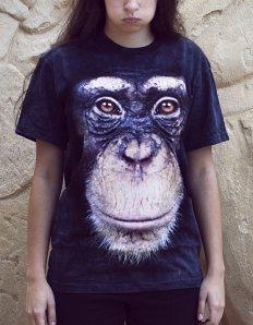Dámské tričko se zvířecím potiskem (the mountain) Chimp