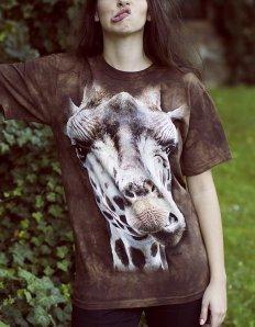 Dámské tričko se zvířecím potiskem (the mountain) Giraffe