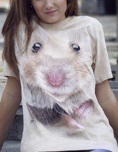 Dámské tričko se zvířecím potiskem (the mountain) Hamster
