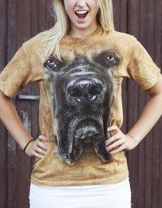 Dámské tričko se zvířecím potiskem (the mountain) Mastiff