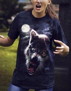 Dámské tričko se zvířecím potiskem (the mountain) Night Breed