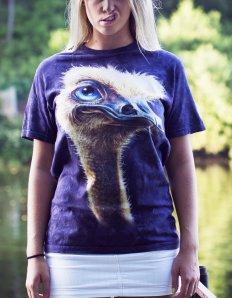 Dámské tričko se zvířecím potiskem (the mountain) Ostrich
