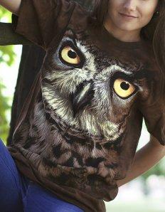 Dámské tričko se zvířecím potiskem (the mountain) Owl