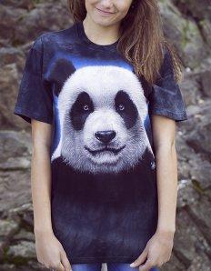Dámské tričko se zvířecím potiskem (the mountain) Sweet panda